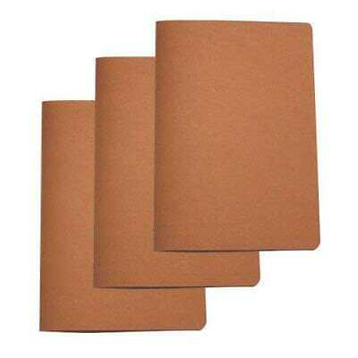 20x Deluxe Tuscan Leather Menu, Natural, A4 w 4 Pockets, Restaurant Menus