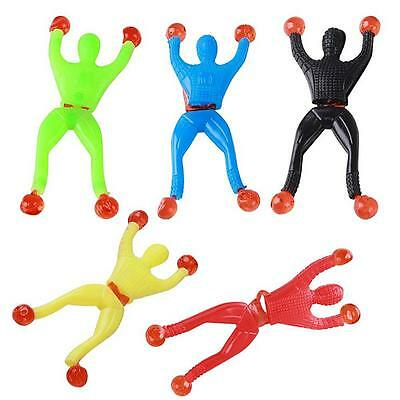 10Pcs Sticky Wall Climbing Flip Rolling Men Climber Spiderman Kids Toy Favors