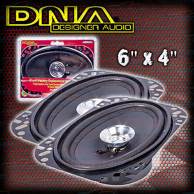 """DNA 6"""" X 4 """" CAR AUDIO STEREO SYSTEM SPEAKERS PAIR FACTORY REPLACEMENT ASB064 x2"""