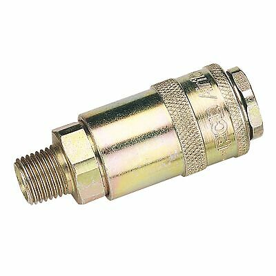"Draper Tools 1/4"" Male Thread PCL Tapered Airflow Coupling (Sold Loose) - 37833"
