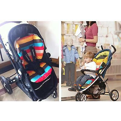 Baby Infant Stroller Cushion Striped Car Seat Liner Pad Pram Pushchair Padding
