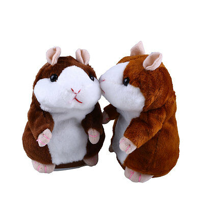 Lovely Talking Hamster Speak Talk Sound Record Repeat Stuffed Plush Kids Toy