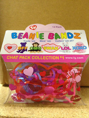 Ty Beanie Bandz: Chat Pack Collection # 1  (12 Bandz) 00006