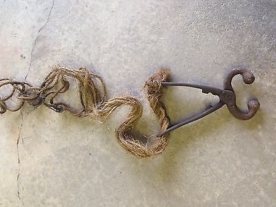 Vintage Bull Cow Nose Lead Tool  with rope NICE