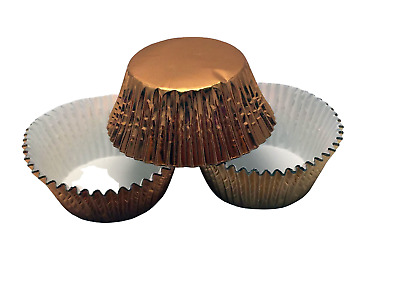 48 Gold Foil Cupcake Liners Baking Cups Cake, Cupcake, Candy, Cookie Decorations