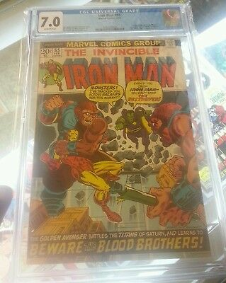Ironman #55 Cgc 7.0 F/vf 1St Appearance Thanos, Drax The Destroyer Free Shipping