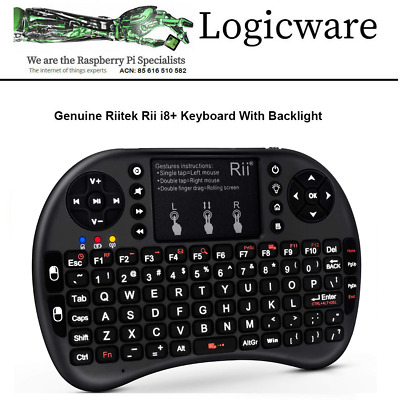 Genuine Rii i8+ Mini Wireless 2.4Ghz Keyboard Backlit Fr Raspberry Pi PC Android