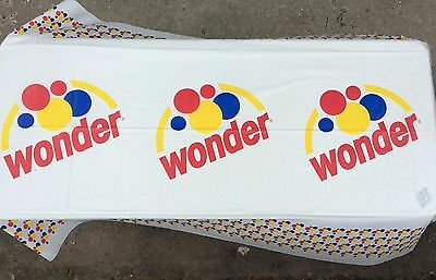Retro Wonder Bread Hostess Tablecloth Advertising 108x54 in Picnic Decor Vintage