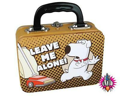 New Official Family Guy Brian Leave Me Alone Lunch Box Tote Tin Case