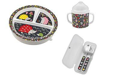 Sugarbooger Plate Sippy Cup Silverware Baby 3 Pc Feeding Gift Set Boys Girls New