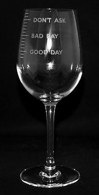 GOOD DAY- BAD DAY Boxed 35cl CRYSTAL WINE GLASS *WINE GIFT*