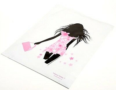100 14x17 Pink/Black Fashion Girl Designer Mailers Poly Shipping Envelopes  Bags