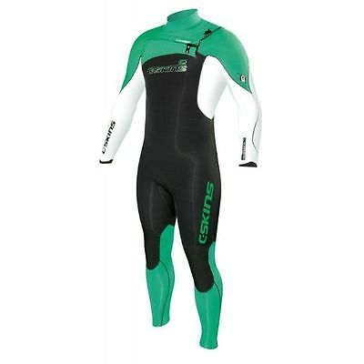 Mens C-skins wired 3.2mm Wetsuit Green