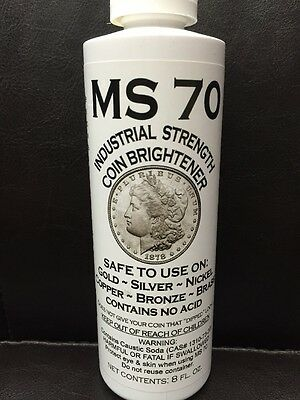 MS 70 Industrial Strength Coin Brightener:gold,silver,nickel,copper,brass,bronze