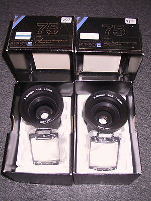 Hasselblad PCP-80 Slide Projector 75mm WIDE ANGLE - MATCHED SET of 2 LENSES