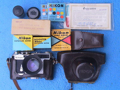 Nikon SP Rangefinder Camera / 50mm-1.4 lens / USER 9 CONDITION / extra items