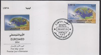 2014 joint issue euromed FDC libya post