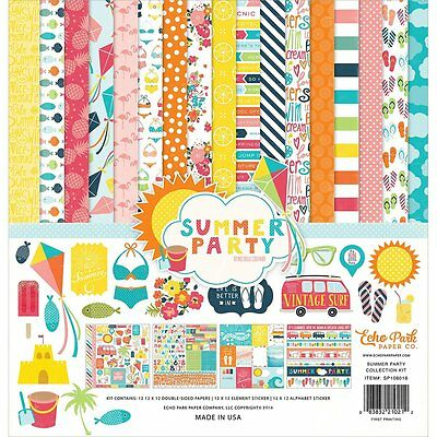 Echo Park Collection Kit 12X12-Summer Party-083832210212