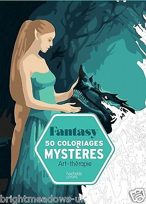 French By Number Adult Colouring Book Creative Art Therapy Fantasy Magical Mysti
