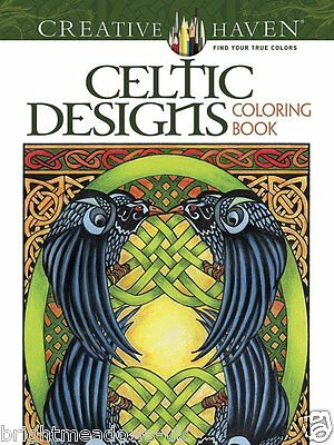 Celtic Designs Patterns Adult Colouring Book Creative Art Therapy Relaxing Calm