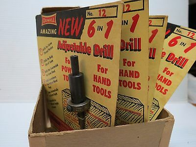 5 Vintage OXWALL 6 in 1 Adjustble Drill in package in original shipping box T20