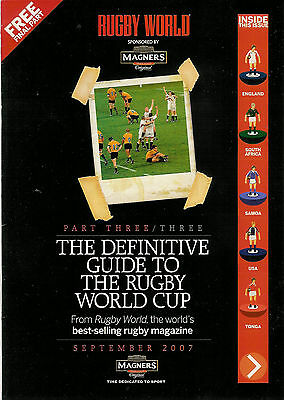 Rugby World Guide to the World Cup (2007) - set of 3 magazines
