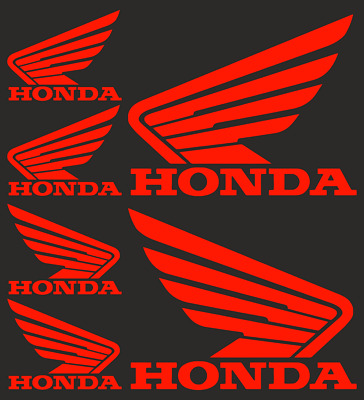 Honda Logo Motorcycle Bike Motorbike Sticker Decal Vinyl (6 stickers)