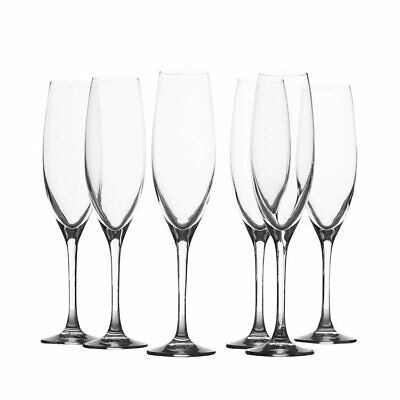 NEW Maxwell & Williams Mansion Champagne Flute 180ml Set of 6 (RRP $60)