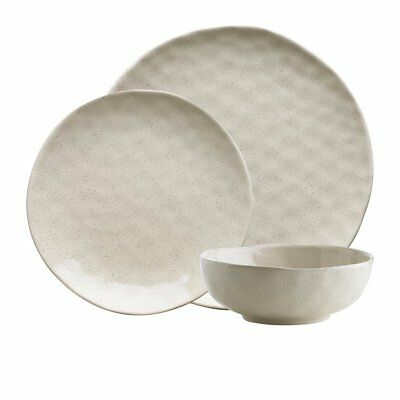 NEW Ecology Speckle Dinner Set 12pc Oatmeal (RRP $130)