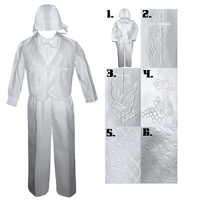 Baby Toddler Boy Baptism Christening Vest Tuxedo Suit Outfit Long Sleeve S-4T