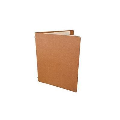 Deluxe Tuscan Leather Menu, Natural A5 w 4 Pockets, Restaurant / Cafe Menus