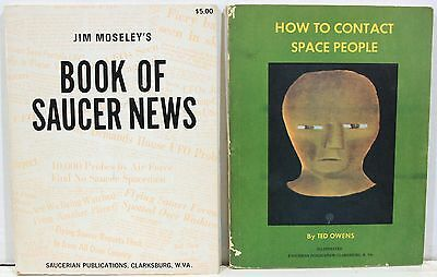 Book of Saucer News & How to Contact Space People ~ 1960s Flying Saucer Books