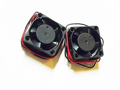 Pair Packed 1.5 1 1/2 Inch 12VDC 12 Volt Car Truck Cooling Fans