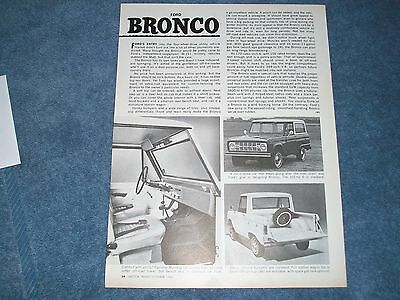 1966 Ford Bronco Vintage Info Article Sport Utility