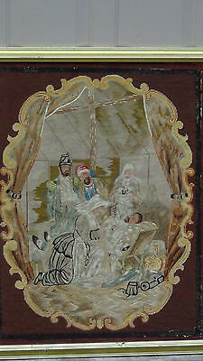 ANTIQUE 18c FRENCH EXQUISITE TAPESTRY HOSPITAL SCENE WITH WOUNDED GENERAL