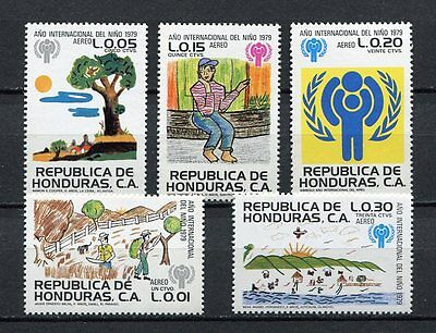 25087) HONDURAS 1980 MNH** Nuovi** Year of The Child 5v