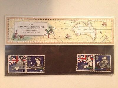 The Australian Bicentenary Royal Mail Mint Stamps