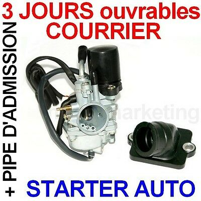 CARBURATEUR AUTO PIPE D'ADMISSION pour PIAGGIO ZIP 50 BASE FAST RIDER 50 AC