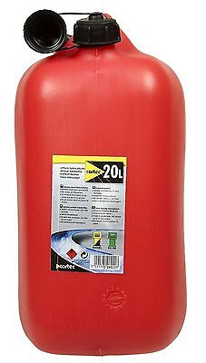 Cartec 506022 Approved Jerry Can for 20L Fluid Drainage Container Jeep Jerry Red