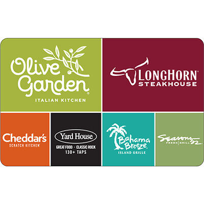 $50 Olive Garden Gift Card - FREE Mail Delivery