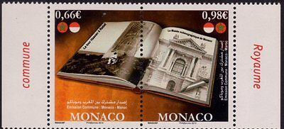 2014 joint issue monaco - maroc ocean museum Hassan tower architecture MNH**