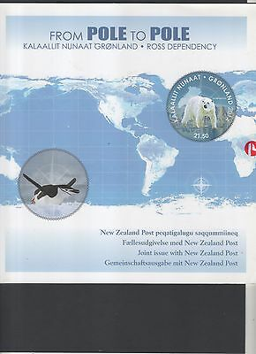 2014 joint issue form pole to pole greenland ross dependency folder MNH**