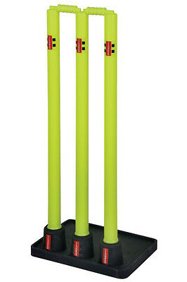 New Gray Nicolls Outdoor Team Sports Official Solid Rubber Base Cricket Stumps