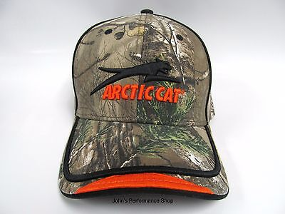 2017 Arctic Cat Aircat Camo & Orange Adjustable Baseball Hat Cap 5273-046
