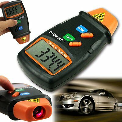 USA Digital Laser Photo Tachometer Non Contact RPM Tach Meter Motor Speed Gauge