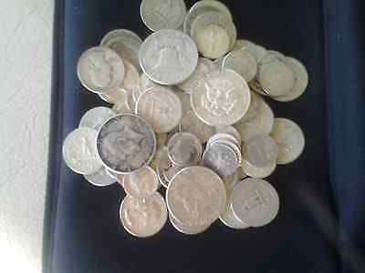 80  oz. BAG  US 90%  Silver Coins  HALVES QUARTERS DIMES  ONE 1