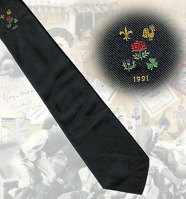 England Grand Slam 1991 navy RUGBY TIE