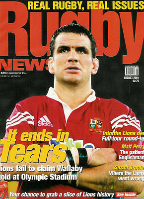 RUGBY NEWS (UK) MAGAZINE August 2001