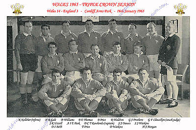 WALES 1965 (v England) TRIPLE CROWN RUGBY TEAM PHOTOGRAPH or POSTCARD