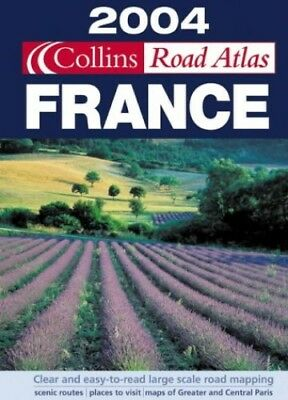 2004 Collins Road Atlas France Spiral bound Book The Cheap Fast Free Post
